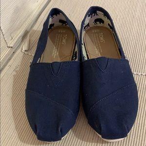 Toms Blue Canvas Classic Flats New